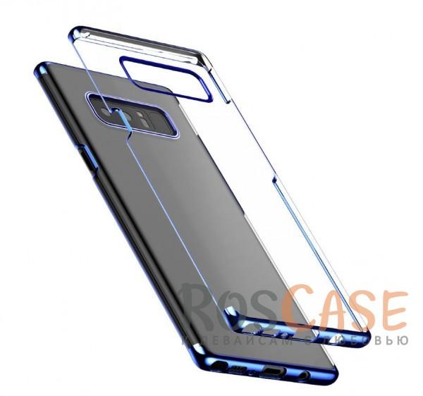 Ультратонкий прозрачный чехол с глянцевыми торцами Baseus Glitter для Samsung Galaxy Note 8 (Синий)Описание:бренд&amp;nbsp;Baseus;совместимость - Samsung Galaxy Note 8;материал - поликарбонат;глянцевая окантовка;прозрачный корпус;плотно облегает девайс;защита от ударов и царапин;предусмотрены все вырезы;на поверхности не заметны отпечатки.<br><br>Тип: Чехол<br>Бренд: Baseus<br>Материал: Пластик