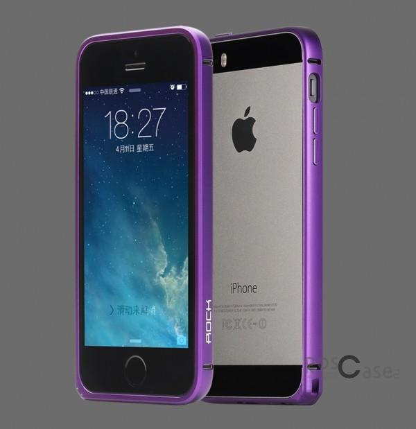 Металлический бампер Rock Arc Slim Guard для Apple iPhone 5/5S/SE (Фиолетовый / Purple)Описание:производитель  -  Rock;совместим с Apple iPhone 5/5S/5SE;материал  -  металл;тип  -  бампер.&amp;nbsp;Особенности:вырезы соответствуют функциям гаджета;ударопрочный;легко крепится;не блокирует беспроводной сигнал;защита при падениях.<br><br>Тип: Бампер<br>Бренд: ROCK