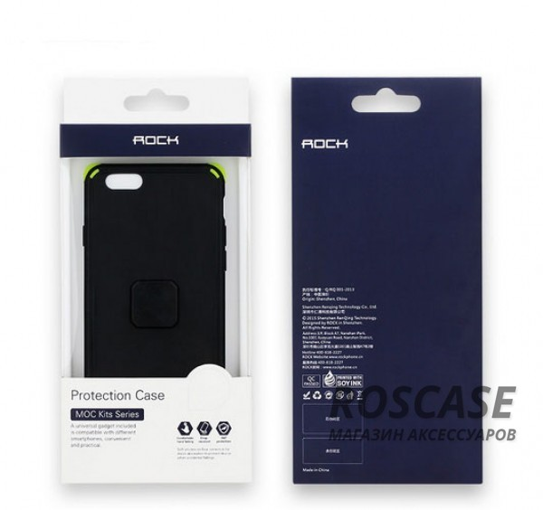 """Фотография Черный / Black TPU+PC чехол Rock MOC Kits Series для Apple iPhone 6 plus (5.5"""")  / 6s plus (5.5"""")"""