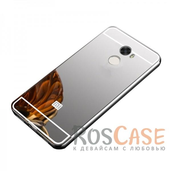Металлический бампер с акриловой вставкой с зеркальным покрытием для Xiaomi Redmi 4 (Серебряный)Описание:разработан для Xiaomi Redmi 4;материалы - металл, акрил;тип - бампер с задней панелью.<br><br>Тип: Чехол<br>Бренд: Epik<br>Материал: Металл