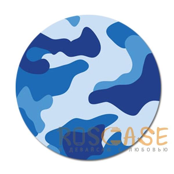 Фото Защитный синий Складная подставка-держатель Попсокет с необычными изображениями