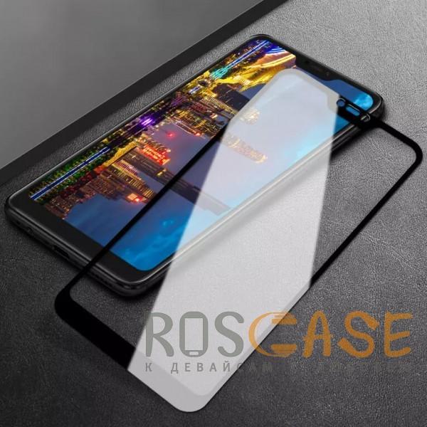 Фото Черное 5D защитное стекло для Xiaomi Redmi Note 6 Pro на весь экран