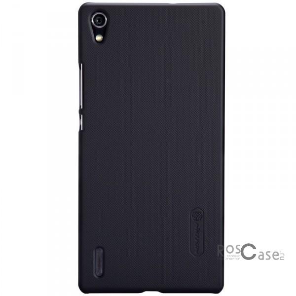 Чехол Nillkin Matte для Huawei Ascend P7 (+ пленка) (Черный)Описание:Чехол изготовлен компанией Nillkin;Спроектирован для модели смартфона Huawei Ascend Р7;Материал, использовавшийся при изготовлении  -  поликарбонат;Форма  -  накладка.Особенности:Имеет ультратонкую структуру;Полностью защищен от появления царапин и следов от рук;Обладает антикислотным напылением;В комплект входит глянцевая пленка;Приемлемая цена.<br><br>Тип: Чехол<br>Бренд: Nillkin<br>Материал: Поликарбонат