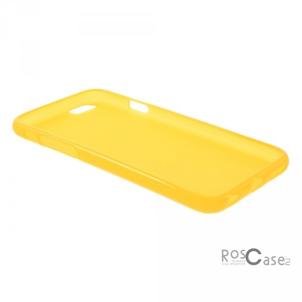 фотография Желтый (soft-touch) TPU Matte для Apple iPhone 6/6s (4.7