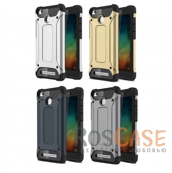 Противоударный двухкомпонентный чехол с дополнительной защитой углов для Xiaomi Redmi 3 Pro / Redmi 3sОписание:ударопрочный чехол;спроектирован специально для Xiaomi Redmi 3 Pro / Redmi 3s&amp;nbsp;/ Redmi 3x;защищает заднюю панель гаджета и боковые грани;приподнятые бортики защищают экран от царапин;конструкция из двух материалов - термополиуретана и поликарбоната;предусмотрены все необходимые вырезы;не скользит в руках;формат - накладка.<br><br>Тип: Чехол<br>Бренд: Epik<br>Материал: TPU