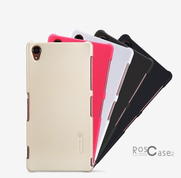 Матовый чехол для Sony Xperia Z3/Xperia Z3 Dual (+ пленка)Описание:Чехол изготовлен компанией&amp;nbsp;Nillkin;Спроектирован для&amp;nbsp;Sony Xperia Z3/Xperia Z3 Dual;Материал  -  особо прочный пластик;Форма  -  накладка.Особенности:Имеет матовую поверхность;Исключено образование потертостей и возникновение царапин;В комплекте поставляется глянцевая бесцветная пленка;Присутствует антикислотное и UV-напыление;Не маркий;Не деформируется.<br><br>Тип: Чехол<br>Бренд: Nillkin<br>Материал: Поликарбонат
