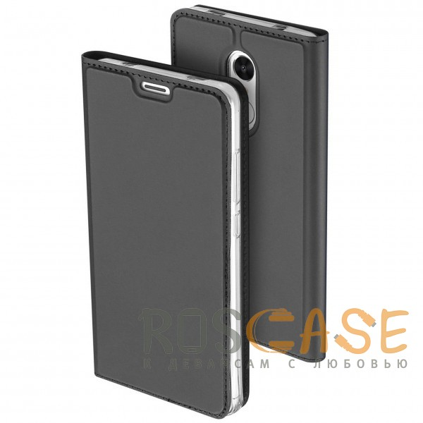 Изображение Серый Dux Ducis | Чехол-книжка для Xiaomi Redmi Note 4 (MTK) с подставкой и карманом для визиток
