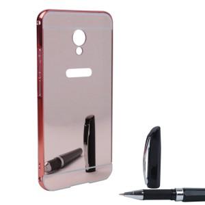 Металлический бампер для Meizu MX6 с зеркальной вставкой