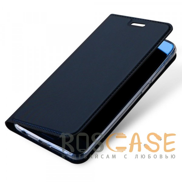 Фото Синий Dux Ducis | Чехол-книжка для Huawei Honor 9 с функцией подставки и картхолдером