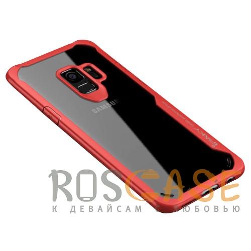Фотография Красный iPaky Luckcool | Чехол для Samsung Galaxy S9 с цветными силиконовыми вставками
