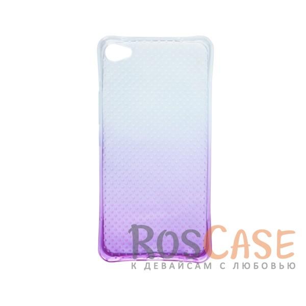 Фото Фиолетовый Гибкий чехол для Meizu U20 из прозрачного силикона с градиентным цветным напылением
