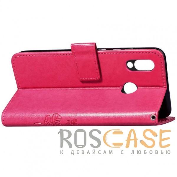 Фотография Розовый Чехол-книжка с узорами на магнитной застёжке для Huawei P Smart+ (nova 3i)