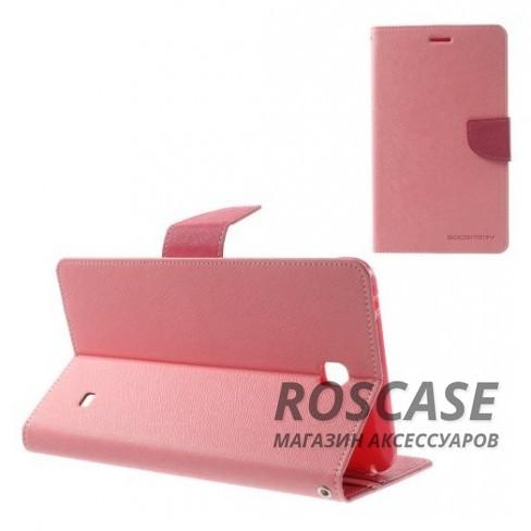 Чехол (книжка) Mercury Fancy Diary series для Samsung Galaxy Tab 4 7.0 (Розовый / Малиновый)Описание:производитель  -  бренд&amp;nbsp;Mercury;совместим с Samsung Galaxy Tab 4 7.0;материалы  -  искусственная кожа, термополиуретан;форма  -  чехол-книжка.&amp;nbsp;Особенности:рельефная поверхность;все функциональные вырезы в наличии;внутренние кармашки;магнитная застежка;защита от механических повреждений;трансформируется в подставку.<br><br>Тип: Чехол<br>Бренд: Mercury<br>Материал: Искусственная кожа
