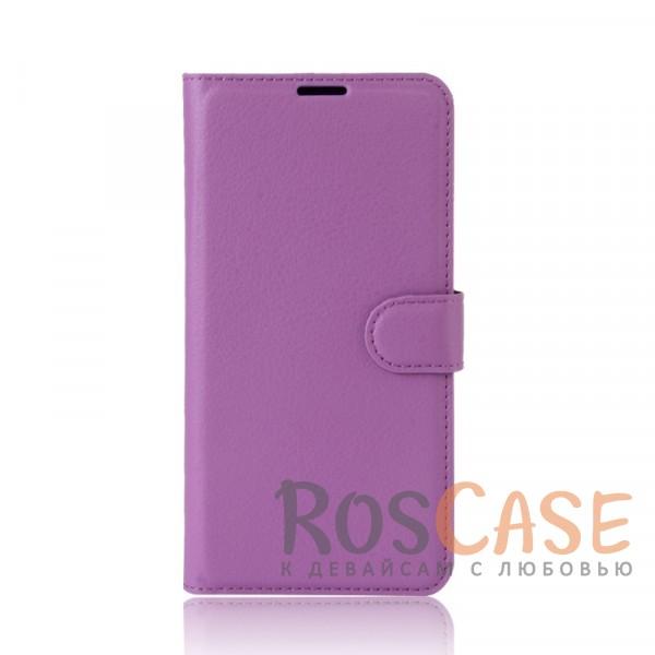 Гладкий кожаный чехол-бумажник на магнитной застежке Wallet с функцией подставки и внутренними карманами для Meizu M5s (Фиолетовый)Описание:совместимость - Meizu M5s;материалы  -  искусственная кожа, TPU;форма  -  чехол-книжка;фактурная поверхность;предусмотрены все функциональные вырезы;кармашки для визиток/кредитных карт/купюр;магнитная застежка;защита от механических повреждений.<br><br>Тип: Чехол<br>Бренд: Epik<br>Материал: Искусственная кожа
