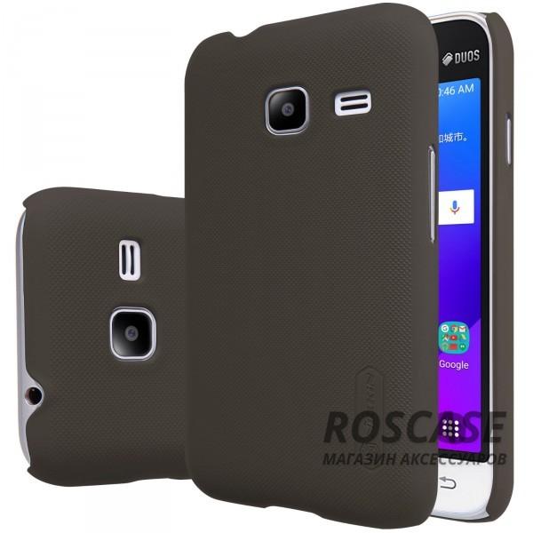 Чехол Nillkin Matte для Samsung J105H Galaxy J1 Mini / Galaxy J1 Nxt (+ пленка) (Коричневый)Описание:производитель -&amp;nbsp;Nillkin;материал - поликарбонат;совместим с Samsung J105H Galaxy J1 Mini / Galaxy J1 Nxt;тип - накладка.&amp;nbsp;Особенности:матовый;прочный;тонкий дизайн;не скользит в руках;не выцветает;пленка в комплекте.<br><br>Тип: Чехол<br>Бренд: Nillkin<br>Материал: Поликарбонат