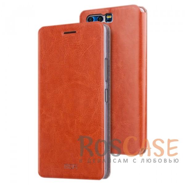Классический кожаный чехол-книжка MOFI Rui с металлической вставкой в обложке и функцией подставки для Huawei Honor 9 (Коричневый)Описание:бренд - Mofi;разработан для&amp;nbsp;Huawei Honor 9;материалы - термополиуретан, искусственная кожа, металл;защита со всех сторон;предусмотрены все функциональные вырезы;трансформируется в подставку;формат&amp;nbsp;- чехол-книжка;классический дизайн.<br><br>Тип: Чехол<br>Бренд: Mofi<br>Материал: Искусственная кожа