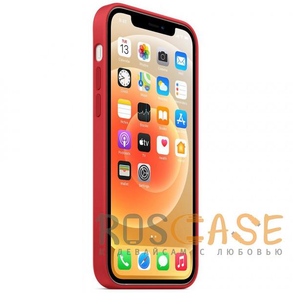Изображение Красный Силиконовый чехол Silicone Case с микрофиброй для iPhone 12 Pro Max