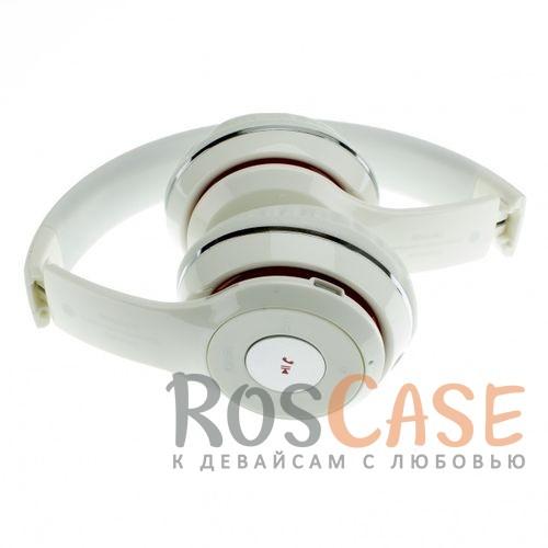Фотография Белый TM-012S | Беспроводные наушники Bluetooth с микрофоном и разъемом для карты памяти