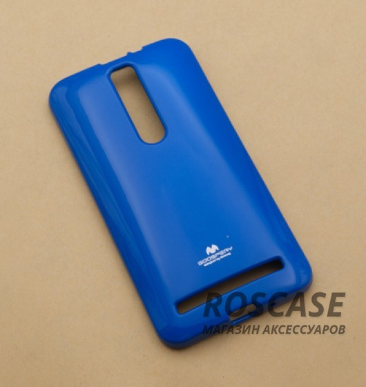 фото Синий TPU чехол Mercury Jelly Color series для Asus Zenfone 2 (ZE551ML/ZE550ML)
