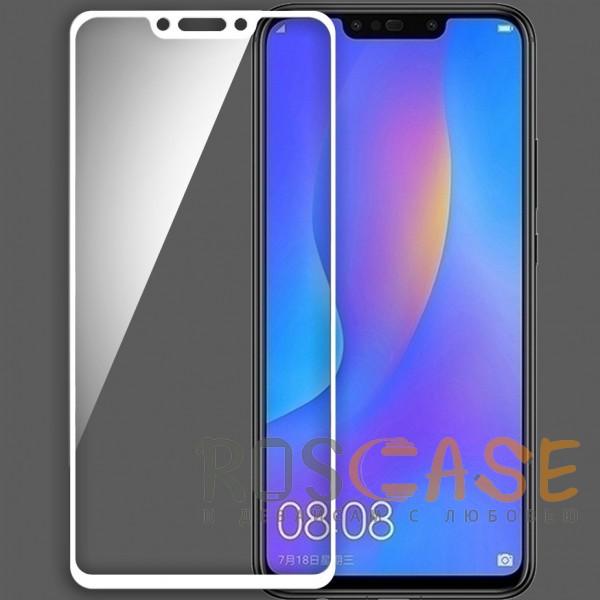 Mocolo (full glue) | Защитное стекло для Huawei P Smart+ (nova 3i) с полной проклейкой на весь экран (Белое)