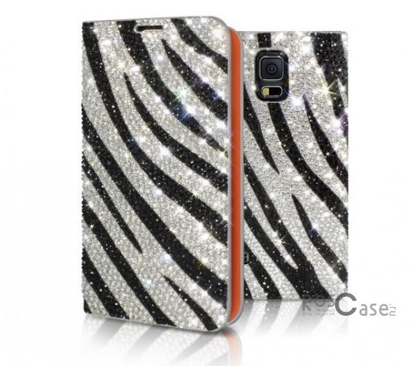 Кожаный чехол (книжка) Dreamplus Safari Series для Samsung G900 Galaxy S5 (Зебра)Описание:производитель  - &amp;nbsp;Dreamplus;совместимость: Samsung G900 Galaxy S5;материал  -  натуральная кожа;тип  -  чехол-книжка.&amp;nbsp;Особенности:в наличии все функциональные вырезы;оригинальная расцветка;инкрустация кубическим цирконием;не скользит в руках и на горизонтальных поверхностях;амортизирует удары;защищает от механических повреждений.<br><br>Тип: Чехол<br>Бренд: Dreamplus<br>Материал: Натуральная кожа