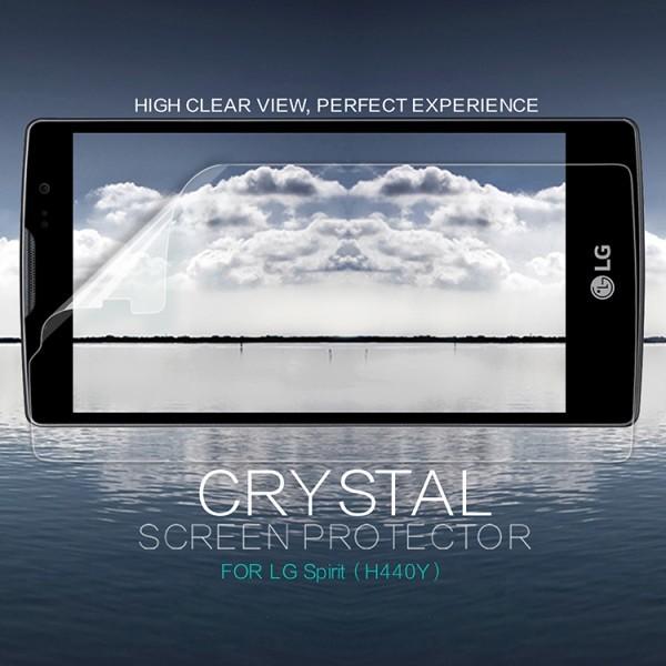 Защитная пленка Nillkin Crystal для LG H422/H440 SpiritОписание:бренд:&amp;nbsp;Nillkin;совместима с LG H422 Spirit/H440 Spirit;материал: полимер;тип: защитная пленка.&amp;nbsp;Особенности:в наличии все необходимые функциональные вырезы;не влияет на чувствительность сенсора;глянцевая поверхность;свойство анти-отпечатки;не желтеет;легко очищается.<br><br>Тип: Защитная пленка<br>Бренд: Nillkin
