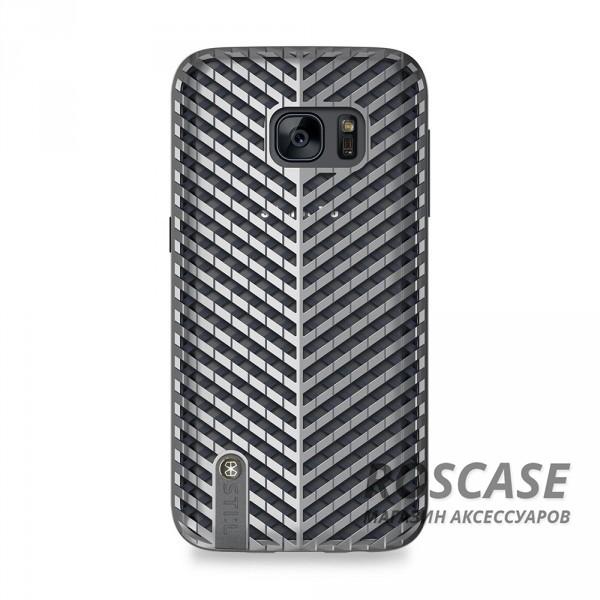 TPU+PC чехол STIL Kaiser Series для Samsung G930F Galaxy S7 (Серебряный)Описание:создан компанией&amp;nbsp;STIL;разработан с учетом особенностей Samsung G930F Galaxy S7;материалы - поликарбонат, термополиуретан;тип - накладка.Особенности:сетчатый дизайн;доступ ко всем функциям гаджета благодаря точным вырезам;защита от царапин и ударов;защита экрана благодаря выступающим бортикам;размеры - 147*76*12 мм.<br><br>Тип: Чехол<br>Бренд: Stil<br>Материал: TPU
