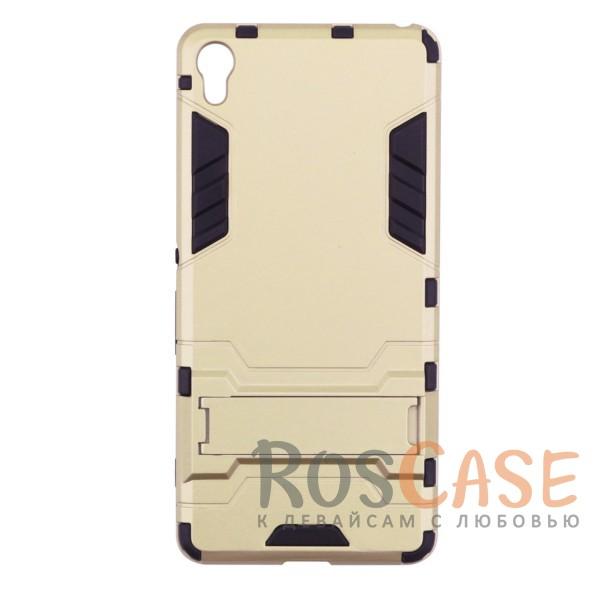 Transformer | Противоударный чехол для Sony Xperia XA / XA Dual с мощной защитой корпуса (Золотой / Champagne Gold)Описание:чехол разработан для Sony Xperia XA / XA Dual;материалы - термополиуретан, поликарбонат;тип - накладка;функция подставки;защита от ударов;прочная конструкция;не скользит в руках.<br><br>Тип: Чехол<br>Бренд: Epik<br>Материал: Поликарбонат