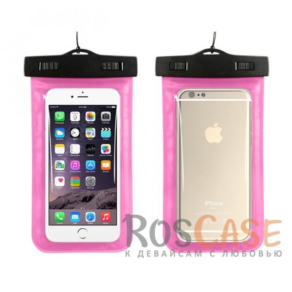 Водонепроницаемый пластиковый чехол для телефона 3.5-5.5 дюйма (Розовый)