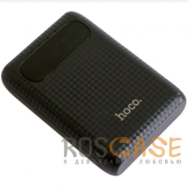Фотография Черный HOCO B20 | Портативное зарядное устройство Power Bank с двумя выходами USB и экраном (10000 mAh)