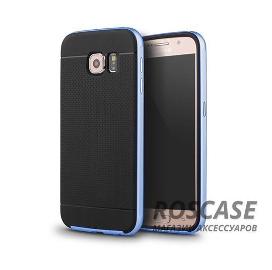 Чехол iPaky TPU+PC для Samsung Galaxy S6 G920F/G920D Duos (Черный / Синий)Описание:компания-разработчик: iPaky;совместимость с устройством модели: Samsung Galaxy S6 G920F/G920D Duos;материал изделия: термопластический полиуретан, поликарбонат;конфигурация: накладка-бампер.Особенности:элегантный дизайн;высокий класс прочности и износоустойчивости;легко и надежно фиксируется на смартфоне;имеет все необходимые функциональные вырезы.<br><br>Тип: Чехол<br>Бренд: Epik<br>Материал: TPU
