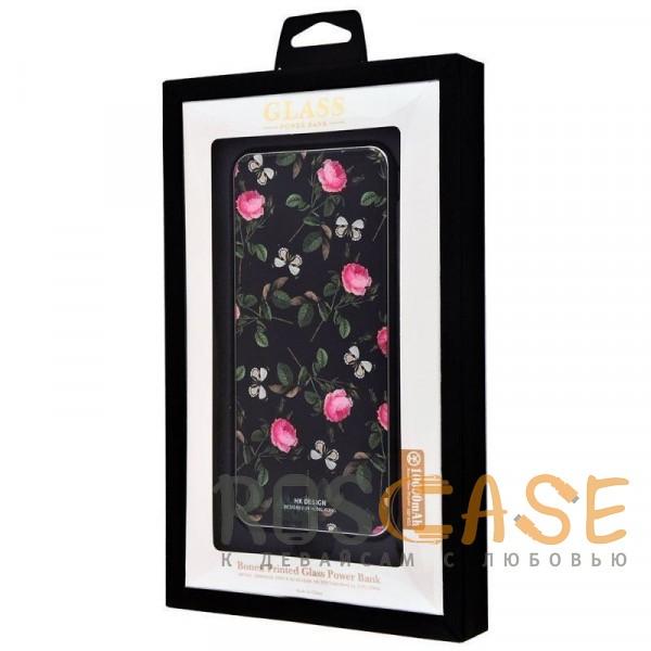 Фотография Розы / Бабочки Bonen GlassPrint WK HP-55   Портативное зарядное устройство Power Bank со стеклянным покрытием и принтом (10000 mAh)