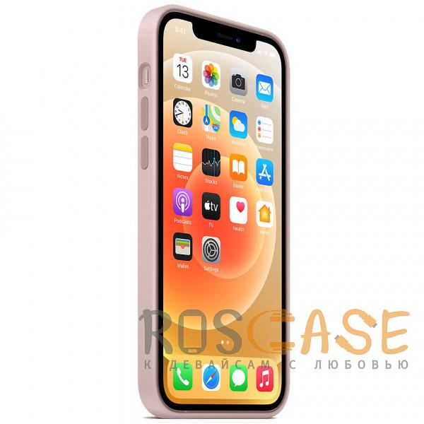 Изображение Розовый песок Силиконовый чехол Silicone Case с микрофиброй для iPhone 12 Pro Max