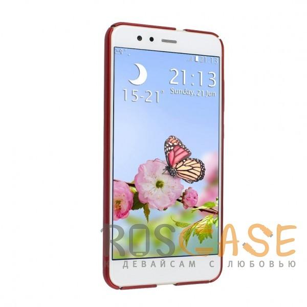 Фотография Красный J-Case THIN | Пластиковый чехол для Huawei P10 Lite с гладким покрытием