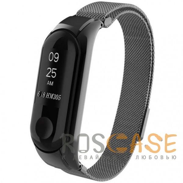 Фотография Черный Xiaomi Mi Band 3 | Металлический ремешок для фитнес-браслета с миланской петлей