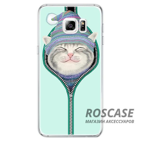 Тонкий силиконовый чехол с принтом Милые котята для Samsung G930F Galaxy S7 (Котенок в шапке)Описание:совместимость  -  смартфон Samsung G930F Galaxy S7;материал  -  силикон;форм-фактор  -  накладка.Особенности:запоминающийся дизайн;прочность и износостойкость;не теряет гибкость и эластичность;не подвергается деформации;имеет все необходимые функциональные вырезы.<br><br>Тип: Чехол<br>Бренд: Epik<br>Материал: TPU
