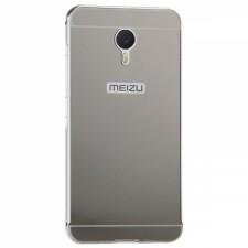 Металлический бампер для Meizu M3 Note с акриловой вставкой
