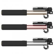 ROCK | Телескопический монопод для селфи (кабель Lightning) + зеркало (6/6 Plus/6s/6s Plus /7/7 Plus)