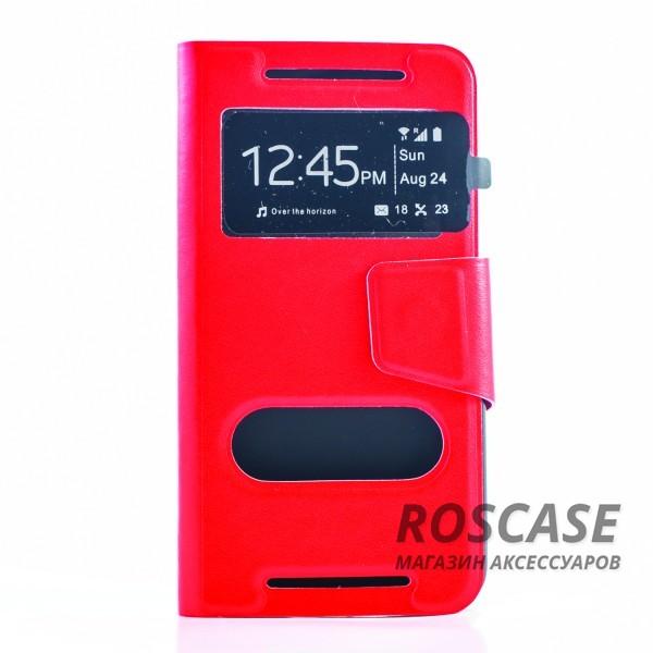 Чехол (книжка) с TPU креплением для HTC One / M7 (Красный)Описание:разработан компанией&amp;nbsp;Epik;спроектирован для HTC One / M7;материал: синтетическая кожа;тип: чехол-книжка.&amp;nbsp;Особенности:имеются все функциональные вырезы;магнитная застежка закрывает обложку;защита от ударов и падений;в обложке предусмотрены отверстия;превращается в подставку.<br><br>Тип: Чехол<br>Бренд: Epik<br>Материал: Искусственная кожа