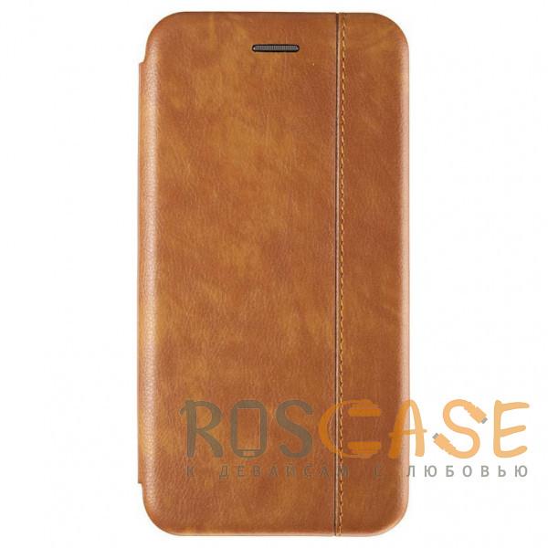 Фото Ярко-коричневый Open Color 2   Чехол-книжка на магните для Samsung Galaxy Note 10 с подставкой и внутренним карманом