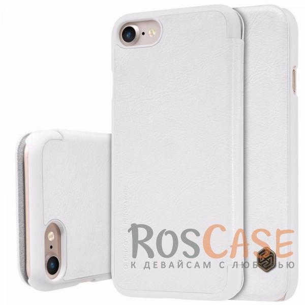 Кожаный чехол (книжка) Nillkin Qin Series для Apple iPhone 7 (4.7) (Белый)Описание:производитель:&amp;nbsp;Nillkin;совместим с Apple iPhone 7 (4.7);материал: натуральная кожа;тип: чехол-книжка.&amp;nbsp;Особенности:защита от механических повреждений;ультратонкий;фактурная поверхность;внутренняя отделка микрофиброй.<br><br>Тип: Чехол<br>Бренд: Nillkin<br>Материал: Натуральная кожа