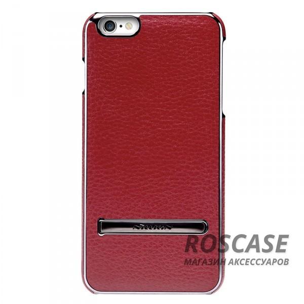 Кожаная накладка с подставкой Nillkin M-Jarl Series для Apple iPhone 6/6s (4.7) (Бордовый)Описание:производитель  -  Nillkin;разработан для Apple iPhone 6/6s (4.7);материалы  -  искусственная кожа, металл;тип  -  накладка.&amp;nbsp;Особенности:элегантный дизайн;в наличии функциональные вырезы;не видны отпечатки пальцев;металлическая окантовка;защищает от царапин и падений;функция подставки.<br><br>Тип: Чехол<br>Бренд: Nillkin<br>Материал: Искусственная кожа