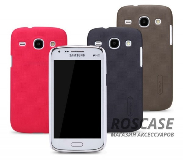 Чехол Nillkin Matte для Samsung i8262 Galaxy Core (+ пленка)Описание:компания-производитель  -  Nillkin;создан для смартфона Samsung i8262 Galaxy Core;изготовлен из высококачественного пластика;форм-фактор  -  чехол-накладка.Особенности:оригинальный дизайн;износоустойчивость и прочность;надежная защита от повреждений и загрязнений;легкая фиксация.<br><br>Тип: Чехол<br>Бренд: Nillkin<br>Материал: Поликарбонат