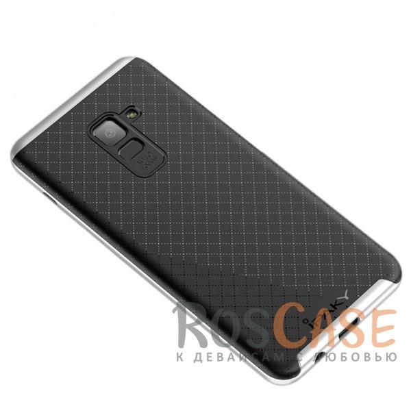Фотография Черный / Серебряный iPaky Hybrid | Противоударный чехол для Samsung A730 Galaxy A8+ (2018)