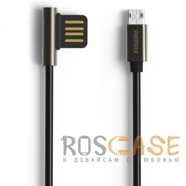 Фото Черный Remax Emperor | Дата кабель USB to MicroUSB с угловым штекером USB (100 см)