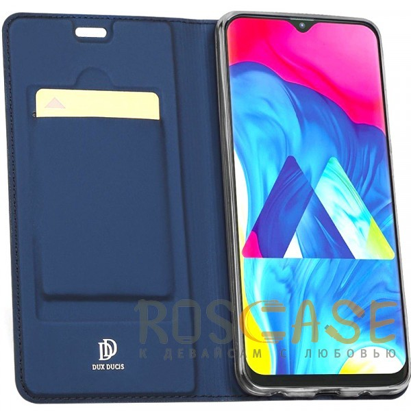 Изображение Синий Чехол-книжка Dux Ducis с карманом для визиток для Samsung Galaxy A70 (A705F)