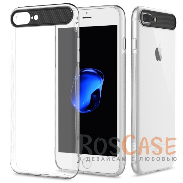 TPU+PC чехол для Apple iPhone 7 plus / 8 plus (5.5) (Бесцветный / Transparent)Описание:произведен фирмой&amp;nbsp;Rock;материал: термополиуретан, поликарбонат;совместимость: Apple iPhone 7 plus / 8 plus (5.5);тип: накладка.<br><br>Тип: Чехол<br>Бренд: ROCK<br>Материал: TPU