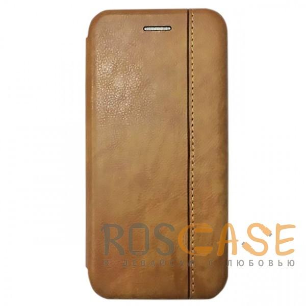 Фото Ярко-коричневый Open Color 2 | Чехол-книжка на магните для Xiaomi Mi 8 SE с подставкой и внутренним карманом