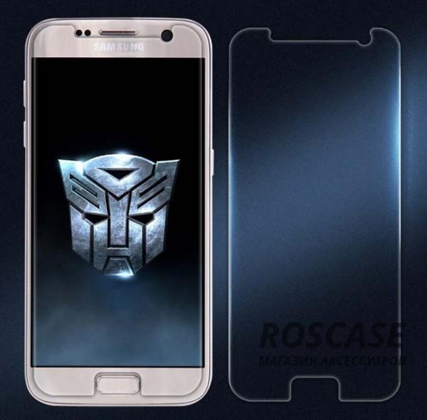 Защитное стекло Nillkin Anti-Explosion Glass (H+ PRO) (зак. края) для Samsung G930F Galaxy S7Описание:бренд:&amp;nbsp;Nillkin;совместимость: Samsung G930F Galaxy S7;материал: закаленное стекло;форма: стекло на экран.Особенности:полное функциональное обеспечение;антибликовое покрытие;олеофобное покрытие (анти отпечатки);ультратонкое;закругленные края;легко устанавливается и чистится.<br><br>Тип: Защитное стекло<br>Бренд: Nillkin