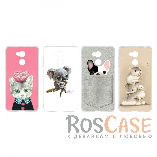 TPU чехол Sweet Art Animals для Xiaomi Redmi 4 Pro / Redmi 4 Prime<br><br>Тип: Чехол<br>Бренд: Epik<br>Материал: TPU